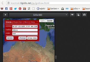 Firefox - Bildschirmgrößen testen